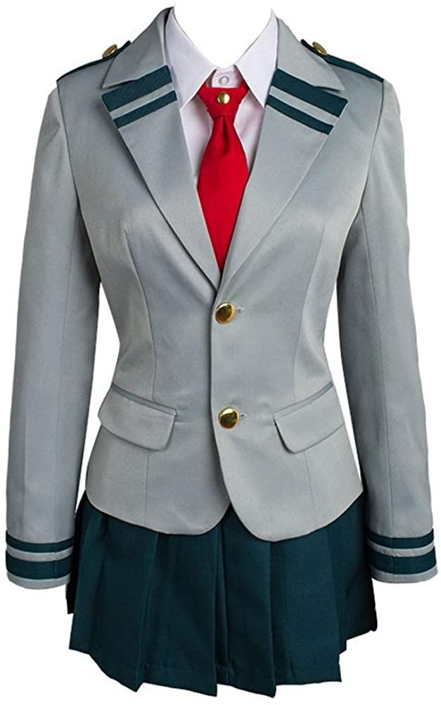 Boku no Hero Academia My Hero Academia Tsuyu School Uniform Cosplay Costume