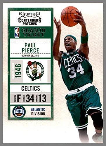 2010-11 Playoff Contenders Patches #54 Paul Pierce BOSTON CELTICS KANSAS JAYHAWKS