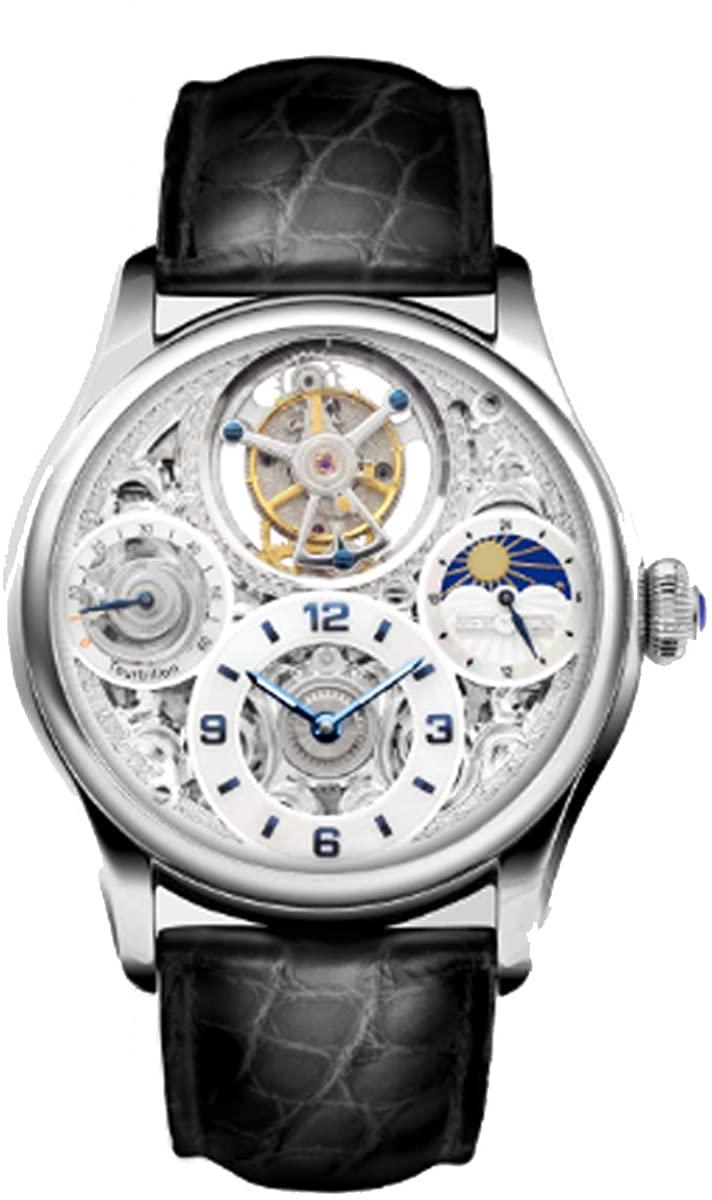 Memorigin Men's MO1231 Starlit Legend Tourbillon Watch (Silver)
