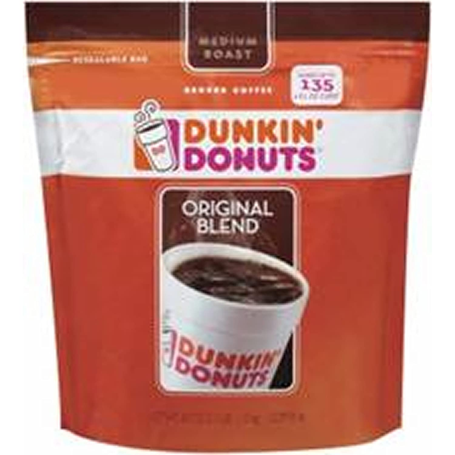 Dunkin' Donuts Ground Coffee with Flip Top, 40 oz. (pack of 6)
