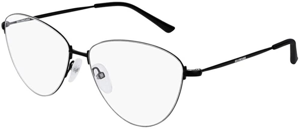 Balenciaga BB0034O Eyeglasses 001 Black-Black 58mm