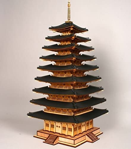 K-Crew The 9 Stories Wood Pagoda of The Mireuksa Temple Wooden Model Construction Kit 3D Woodcraft by YongModeler