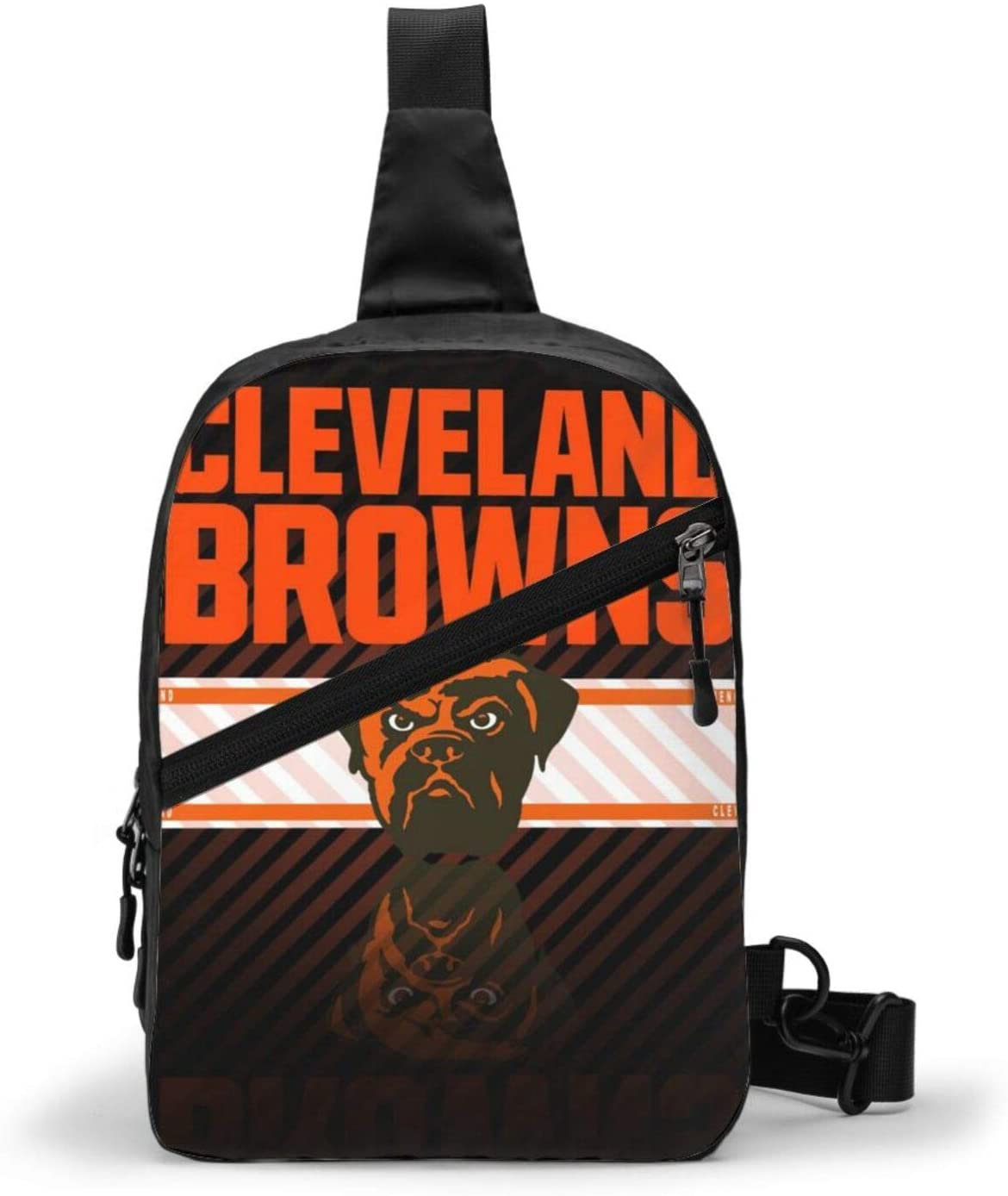 FDLB Cleveland Football Brown Chest Package Sling Bag Large Capacity Multipurpose Daypack Men Women Chest Shoulder Backpack Casual Crossbody