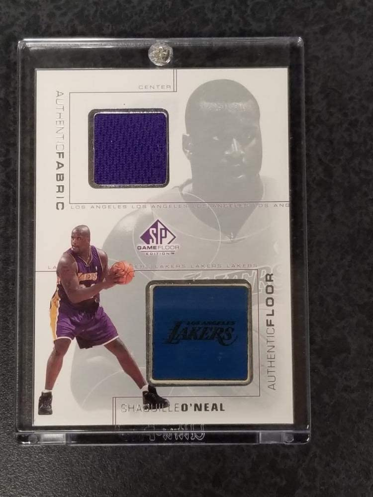 Basketball NBA 2000-01 SP Game Floor Authentic Fabric/Floor Combos #SOC Shaquille O'Neal NM Near Mint MEM Lakers