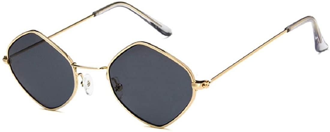 ENSARJOE Fashion Metal Sun Glass Cool Square Shape Colorful Fashion Simple Style Metal Transparent Sunglasses