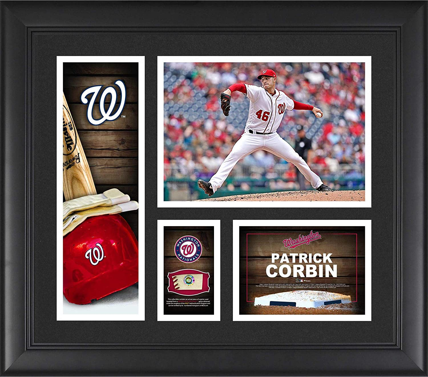 Patrick Corbin Washington Nationals Framed 15 x 17 Player Collage with a Piece of Game-Used Ball - MLB Player Plaques and Collages