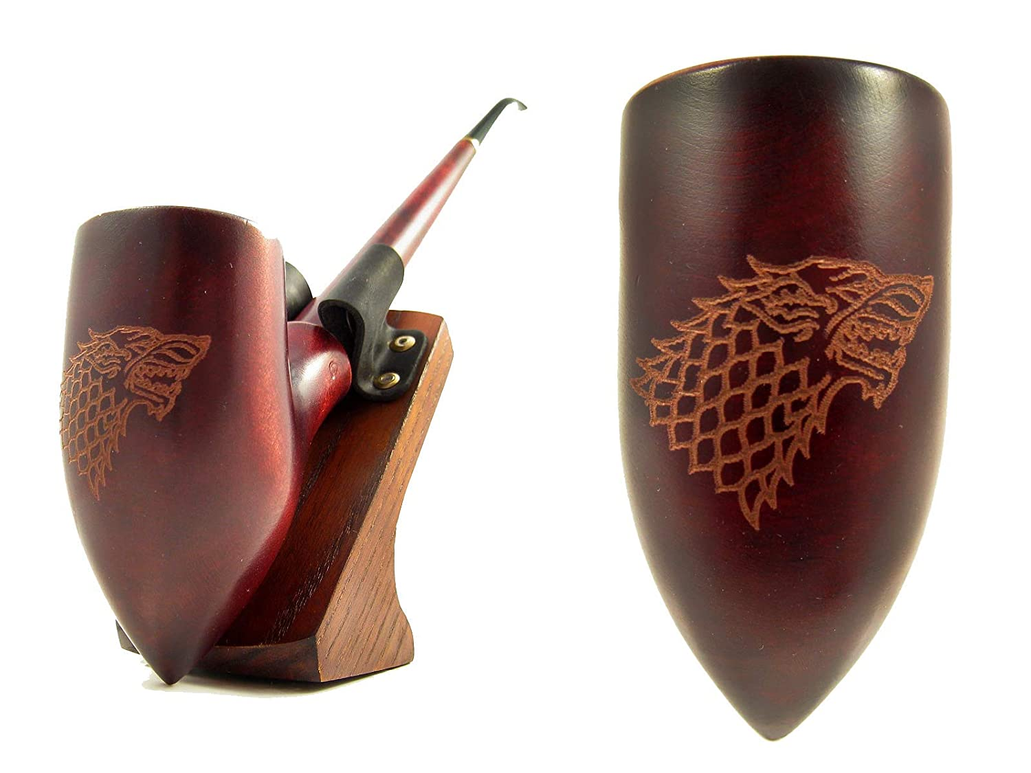 """Fashion NEW Game of Thrones - House Stark """"Winter is Coming"""" Churchwarden Smoking Tobacco Pipe 13 inch/33 cm. Exclusive Designed for Pipe Smokers"""