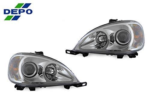 DEPO Headlight Fit for 1998-2001 Mercedes Benz ML Class Mercedes Benz ML Class (340-1104P-ASD1)