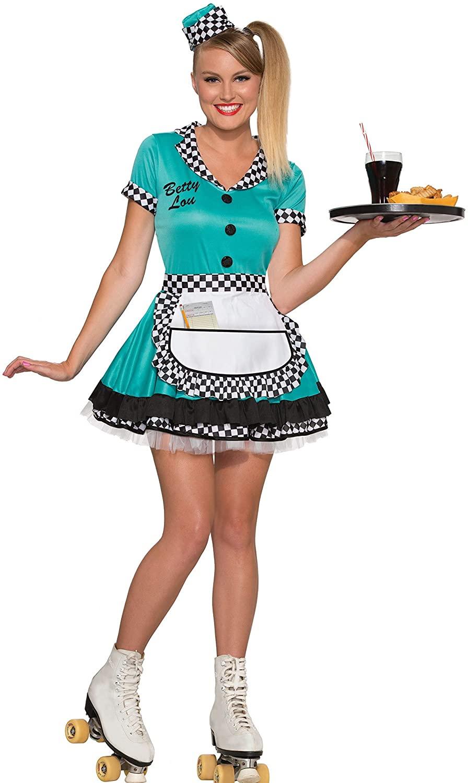 Forum Novelties Women's Betty Lou 50's Diner Waitress Costume