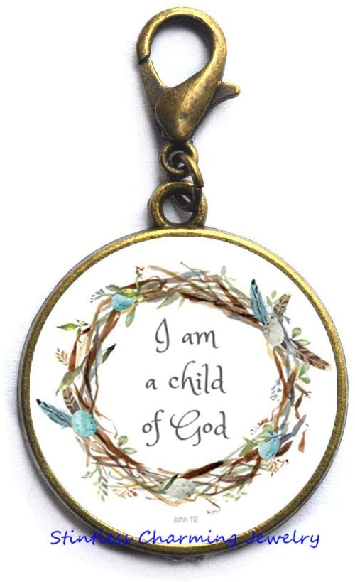 Christian Gift,I Am A of God Zipper Pull,Christian Zipper Pull,Christian Jewelry,Religious Gift,Religious Quote,Bible Verse,Inspirational Gift-JV388