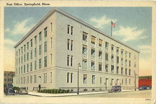 Post Office Springfield, Massachusetts MA Original Vintage Postcard 1947