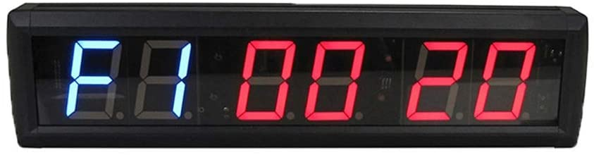LED Digital Electronic Timer LED Interval Timer Count Down Up Wall Clock Stopwatch Multifunctional with Remote Wall Clocks (Color : Black, Size : 41.5X10X40CM)