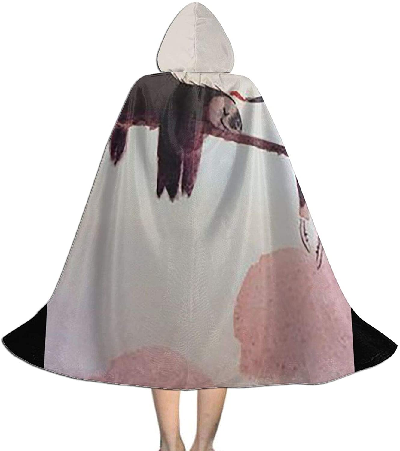 LNUO-1 Unisex Sloth Kid's Long Hooded Cloak Cape for Halloween Party Role Cosplay Costumes