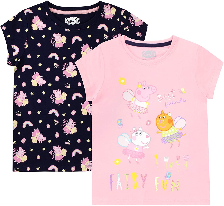 Peppa Pig Girls' T-Shirt Pack of 2