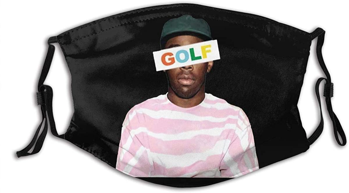 Funny Golf Wang Tyler The Creator Rap Unisex Face Breathable Soft Comfortable Dustproof Facedust Reusable