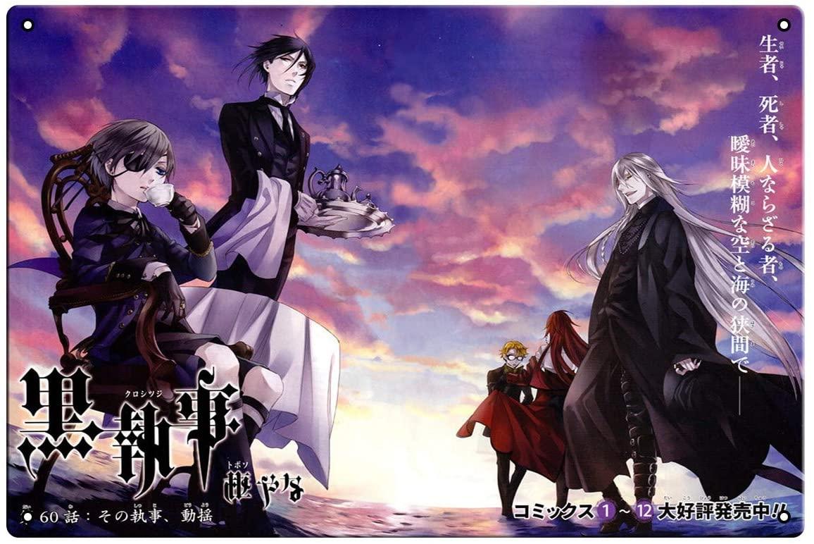 oceansEdge11 Black Butler 3 Movie Metal Japan Anime Tin Sign Manga Poster Bar Cafe Bedroom Home Decor 8 x 12 inch(20x30cm)