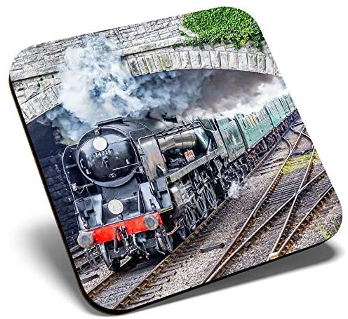 Great Single Coaster Square - Eddystone Steam Train Cool |Glossy Quality Coasters | Tabletop Protection for Any Table Type #2178
