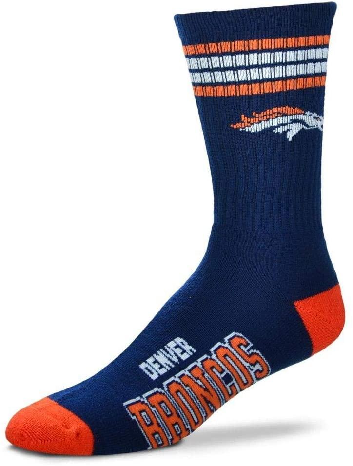For Bare Feet - 4 Stripe Deuce Football Socks Mens Size X-Large 13-15 XL