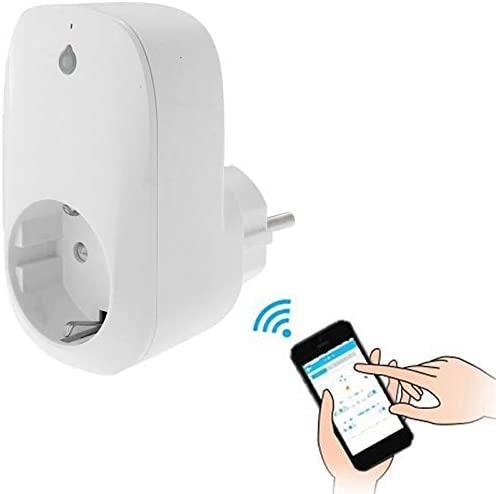 Smart Outlet, Portable Free APP Wi-Fi Home/Offices Automation Smart Wireless Power WiFi Plug, EU Plug(White) Smart Home (Color : White)