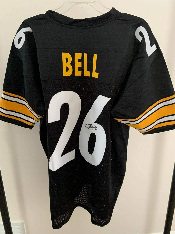 Authentic Autographed Le'veon Bell #26 ~ Steelers Black Custom Jersey ~ Size Xl ~ JSA COA