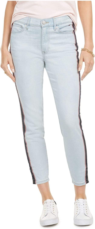TOMMY HILFIGER Womens Light Blue Zippered Pants Size 6