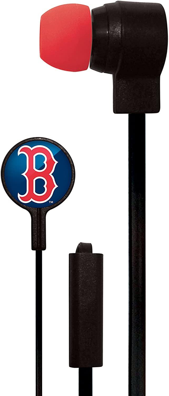 Mizco MLB Big Logo Black Cord Earbuds