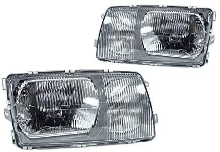 DEPO Headlight Fit for 1981-1991 Mercedes Benz W126 Mercedes Benz W126 (440-1102P-LD-E)