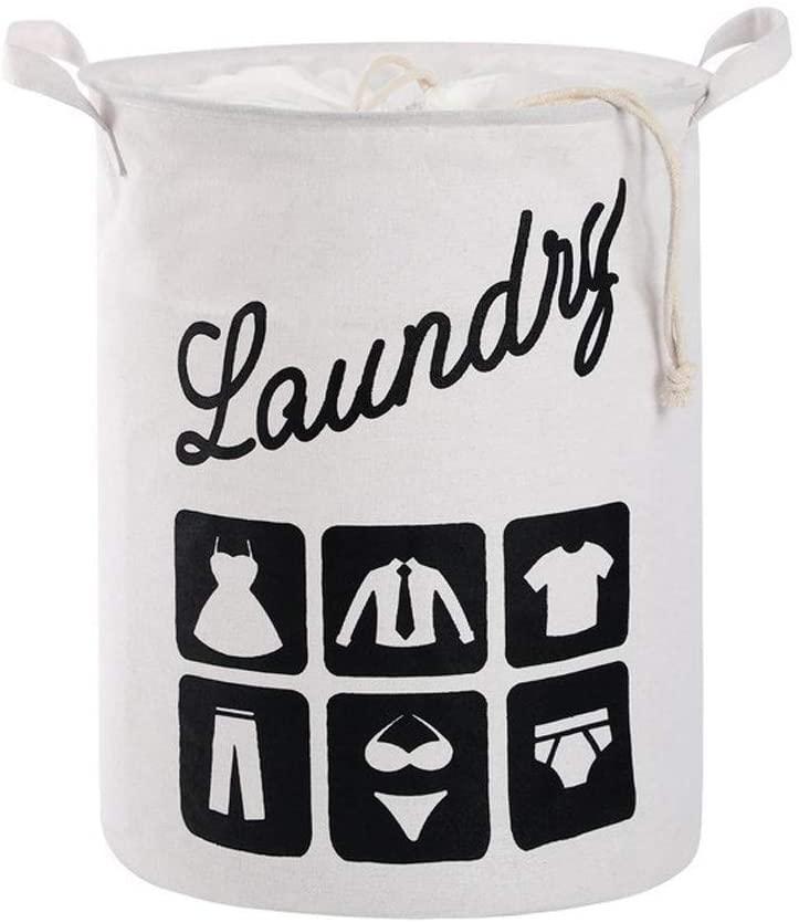 XIMIXI Foldable Laundry Basket,Drawstring Laundry Hamper,Nursery Storage Bin
