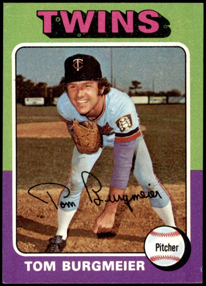 1975 Topps # 478 Tom Burgmeier Minnesota Twins (Baseball Card) NM/MT Twins
