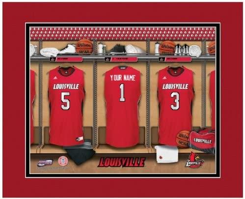 NCAA Locker Room Print Louisville Cardinals Basketball Personalized Framed