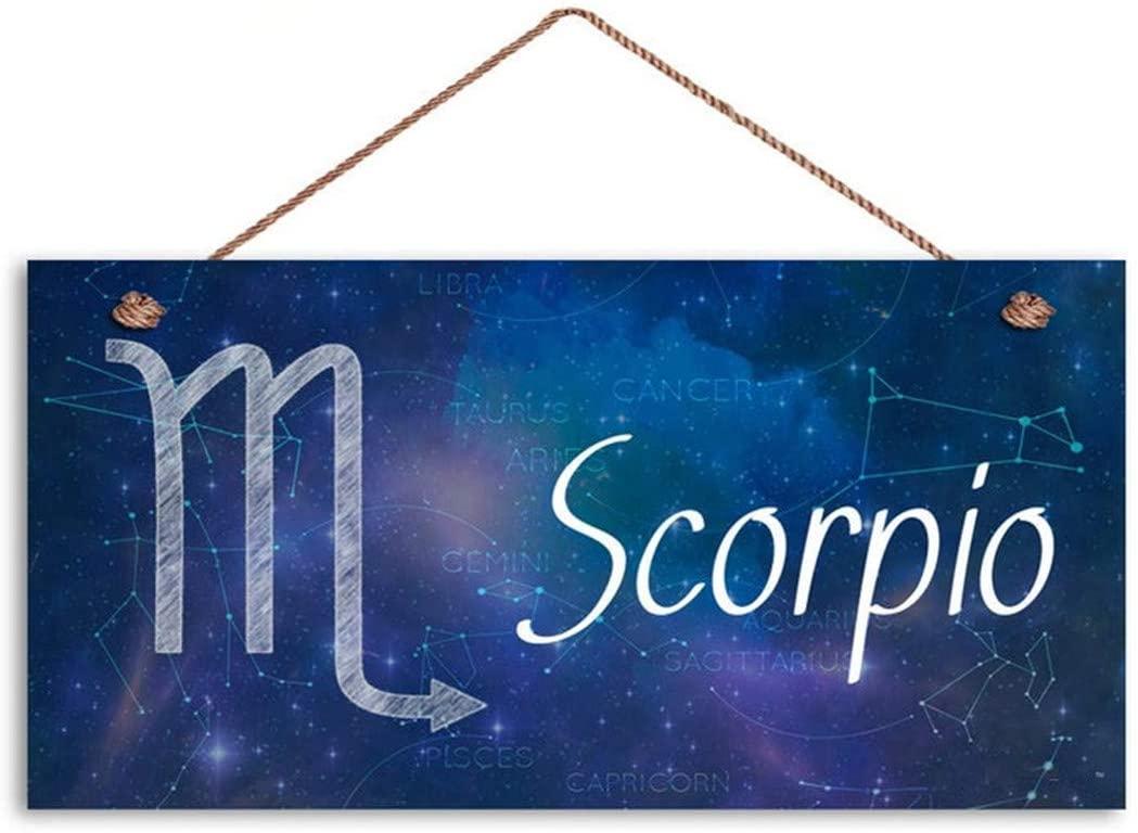 MAIYUAN Scorpio Sign, Zodiac Sign, Constellation Wall Art, Galaxy Style, 5