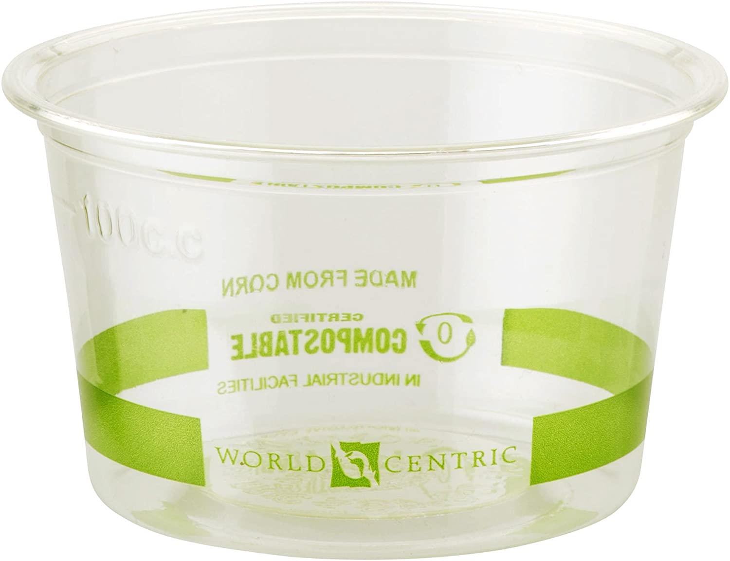 World Centric CP-CS-4S 100% Compostable Ingeo Souffle Cups, 4 oz., Clear (Pack of 1000)