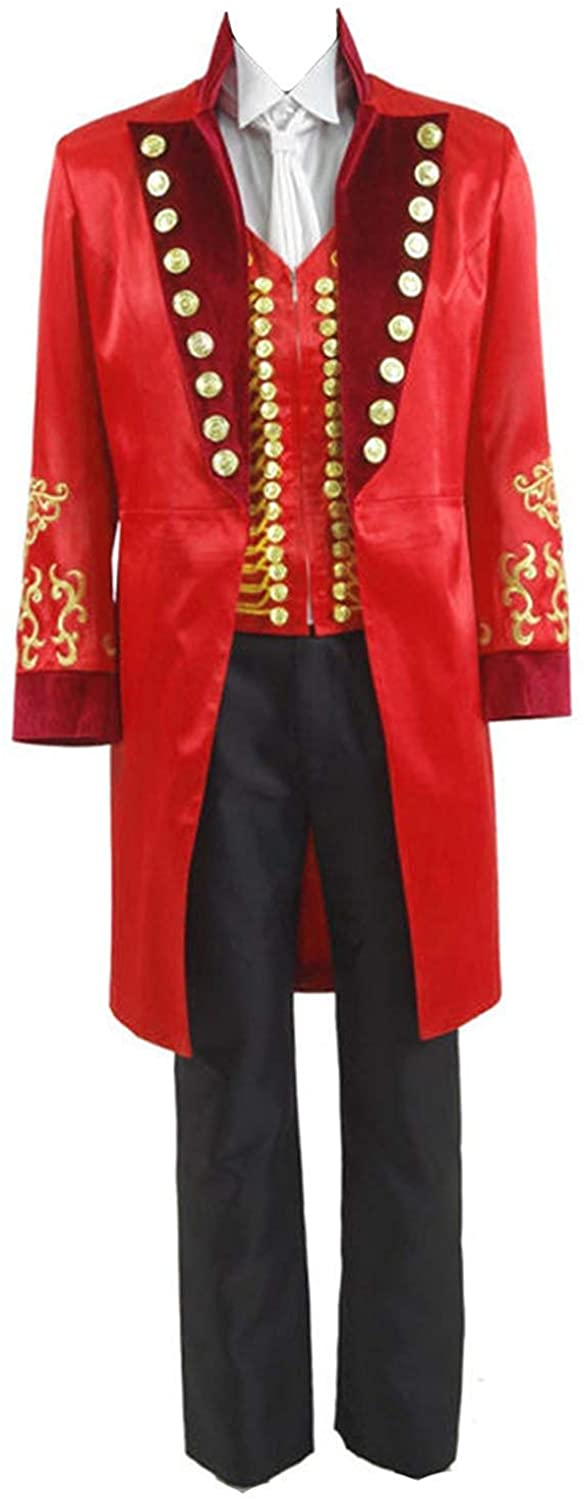 TISEA Men's Circus King Stage Performance Suits Halloween Outfit Cosplay Costume