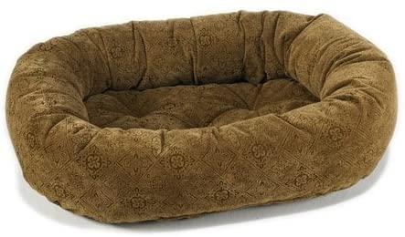 Bowsers Pecan Filigree Microvelvet Donut Bed