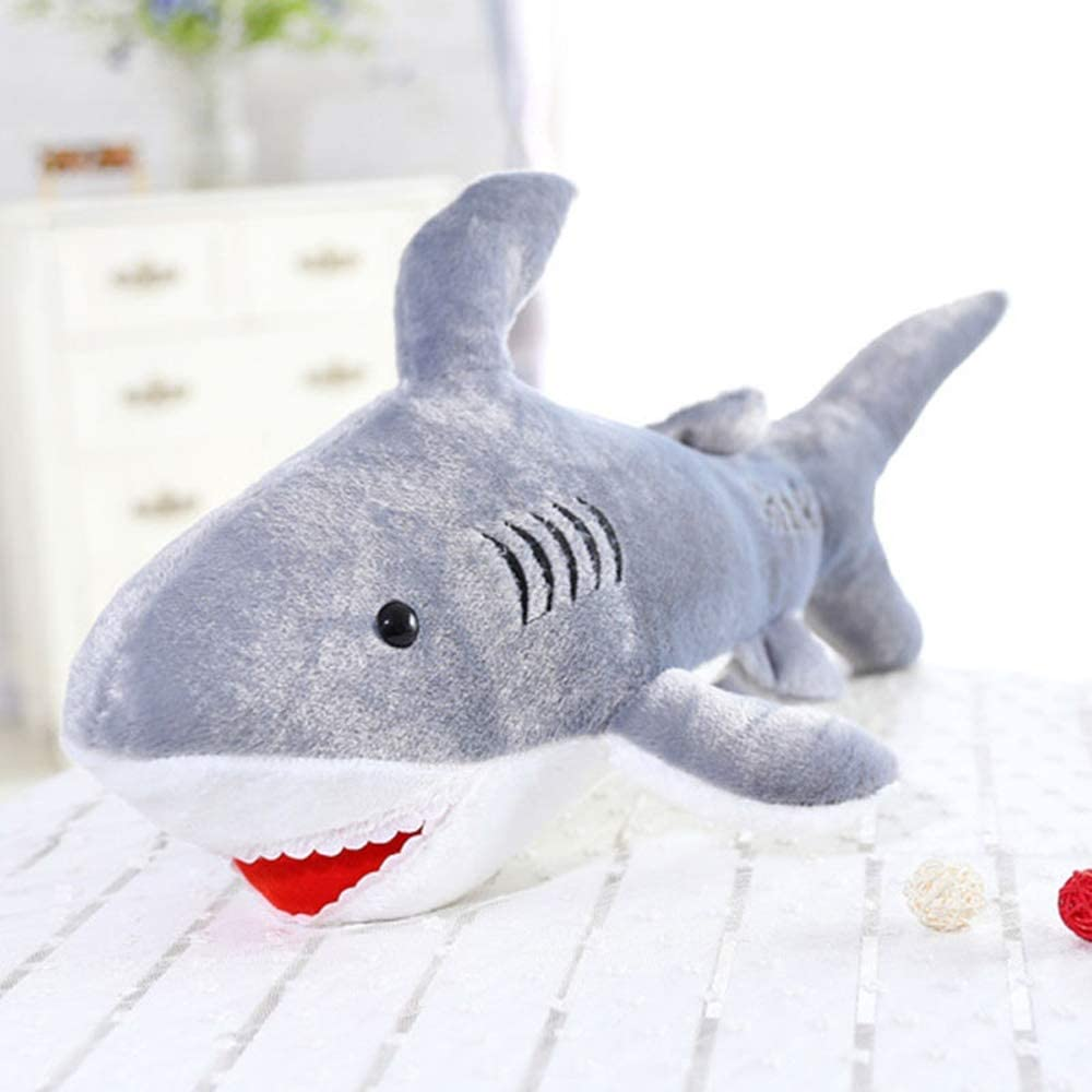Zzlush Plush Doll Figurine Toy Pet Pillow Animal, Kawaii Soft Giant Shark Plush Whale Stuffed Fish Ocean Animals Doll Toys for Children Kids Cartoon Toy for Gift (Size : 110CM)