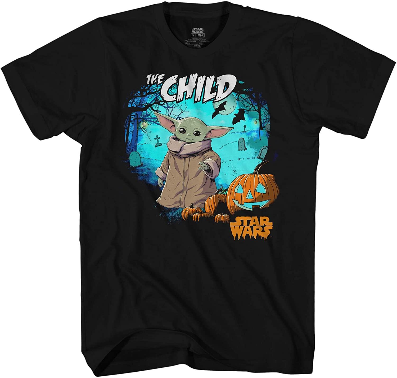Star Wars Baby Yoda The Child Halloween Mens Adult Graphic Tee T-Shirt