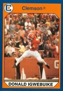 Donald Igwebuike Football Card (Clemson) 1990 Collegiate Collection #4