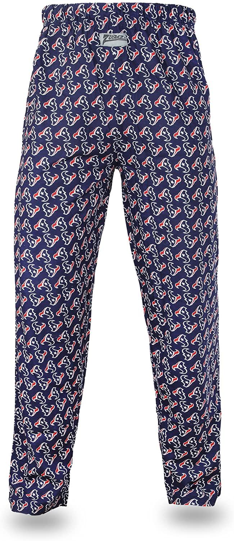 Zubaz NFL Houston Texans Men's Team Logo Print Comfy Jersey Pants, Large, Navy