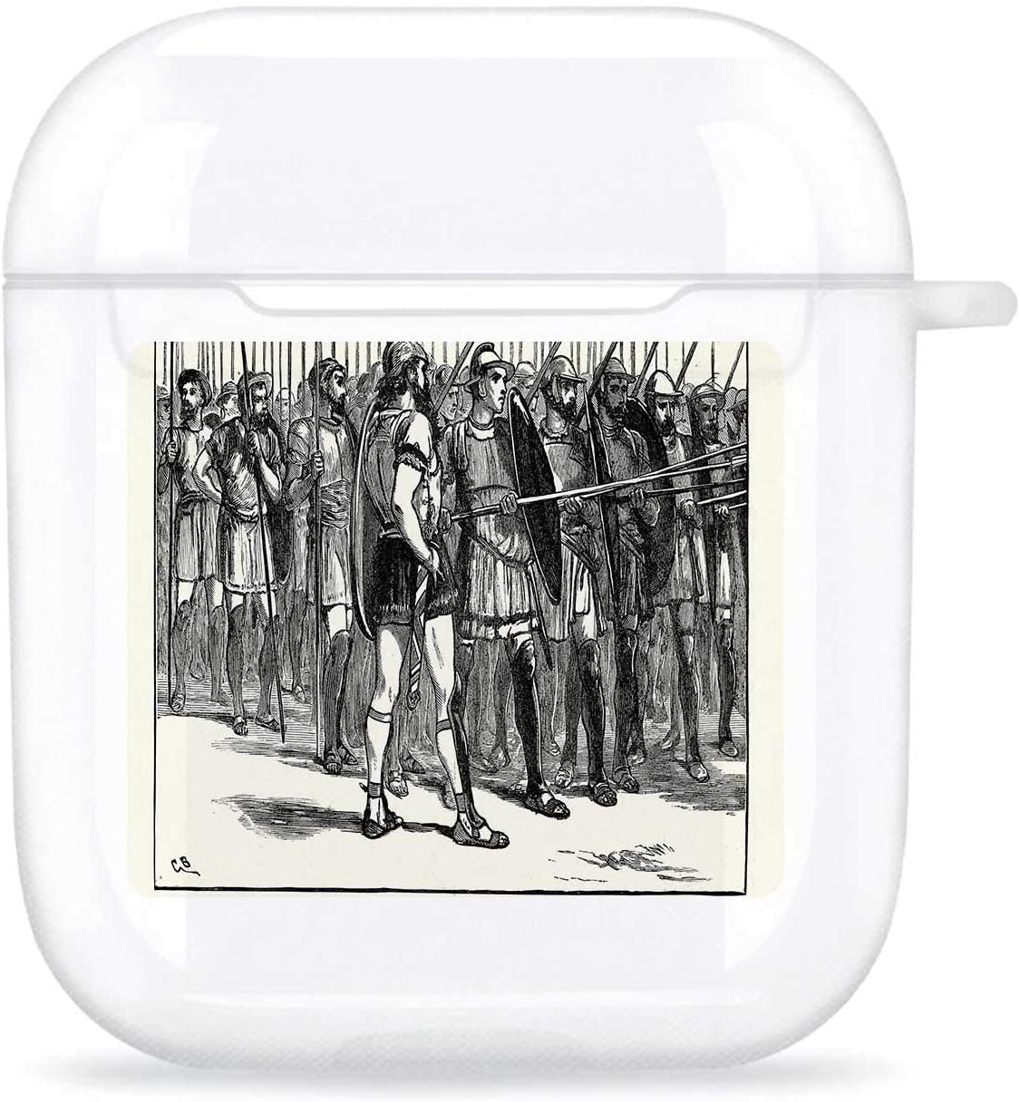 Ancient Greece Macedonian Phalanx Greece,Compatible with Airpods 1& 2 Charging Case TPU Transparent Anti-ash, Anti-, Anti-Fall Phalanx AirPods 1/2
