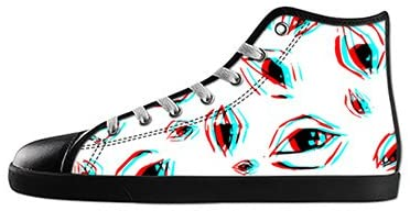 Custom Men's Fashion DIY Image Eyes Pattern Top Canvas Sneaker Shoes
