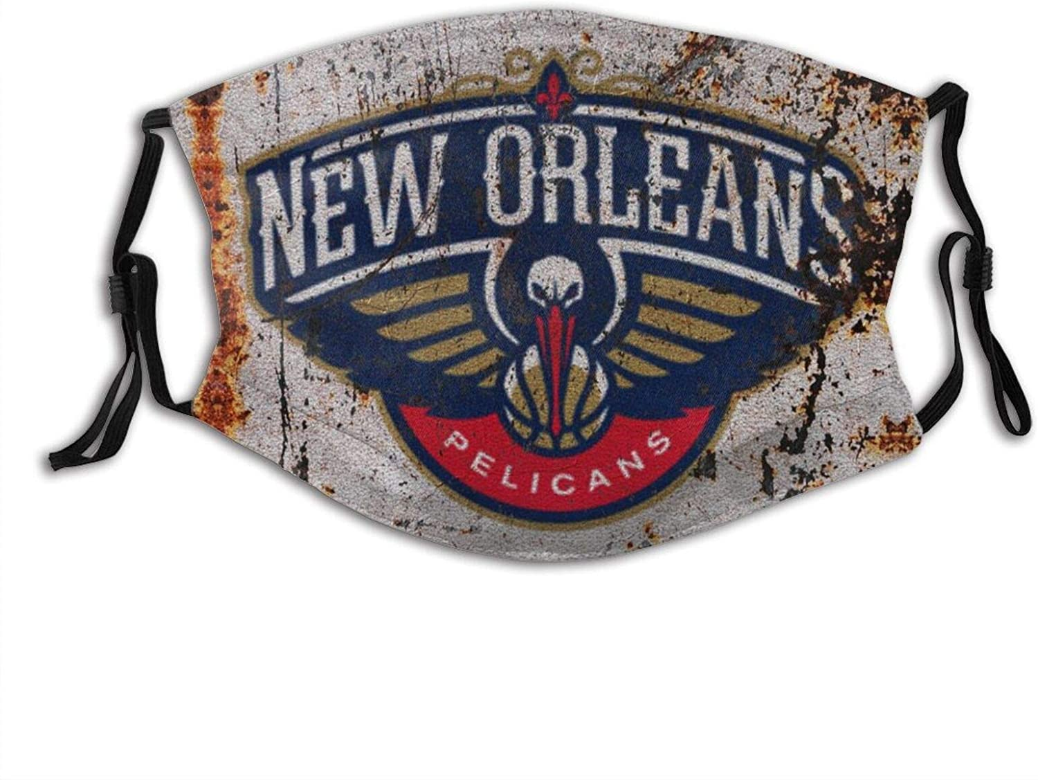 CYYM New Orleans Basketball Pelicans Adults Breathable, Waterproof and Dustproof Mask with Filter, Adjustable Tightness