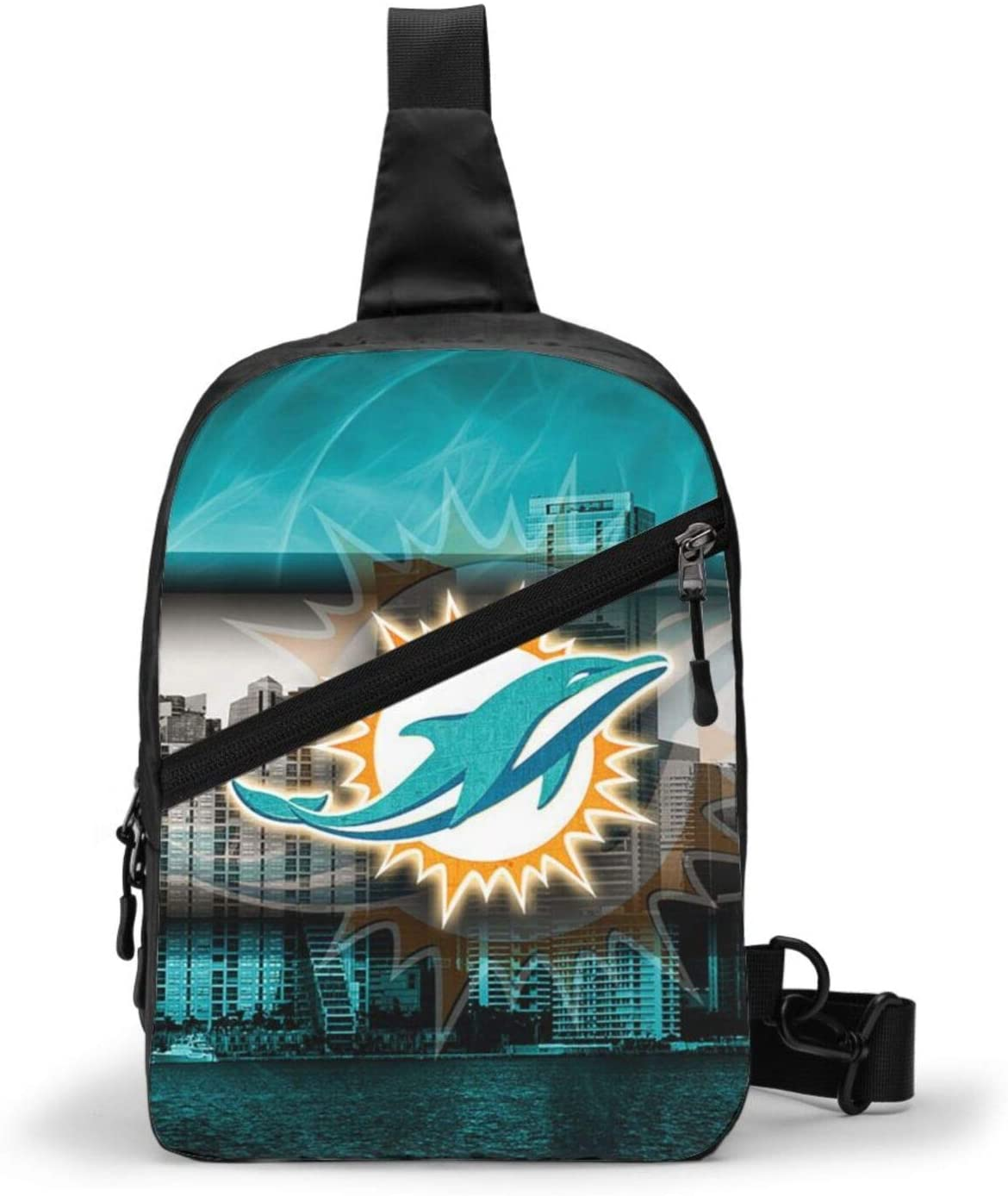 FDLB Miami Football Dolphin Chest Package Sling Bag Large Capacity Multipurpose Daypack Men Women Chest Shoulder Backpack Casual Crossbody