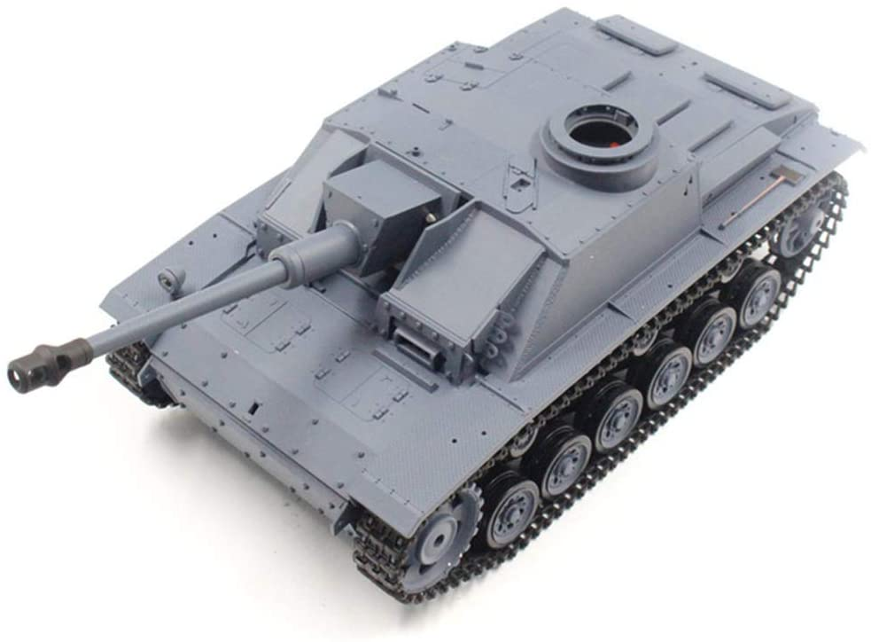 CYZMONI RC 2.4G 1:16 German III F Type 3868 Large Remote Control Battle Tank Smoke Launch Military Model Can Shoot Smoke 320° Turret Rotating LED Infrared Rays Gift for Adults Children