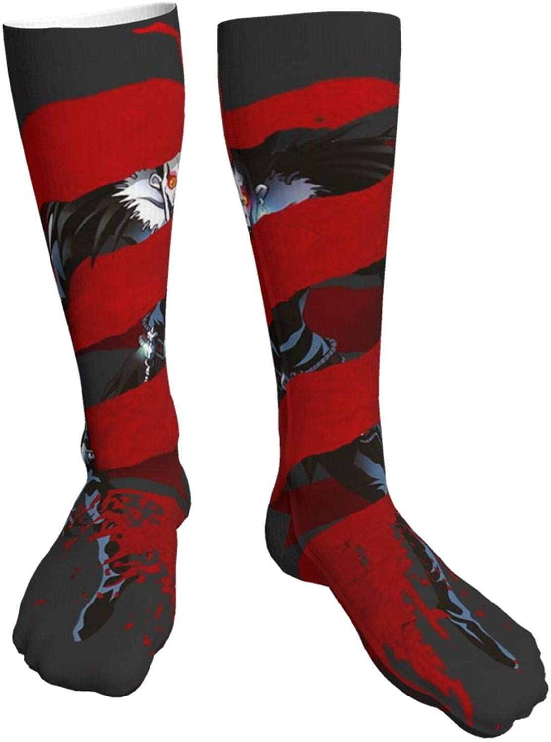 Mens Heavy Thick Socks Death Note Ryuk Shinigami A-Pple Fusion Soft Comfort Crew Socks Casual Athletic 20in Long The-Calf Sock