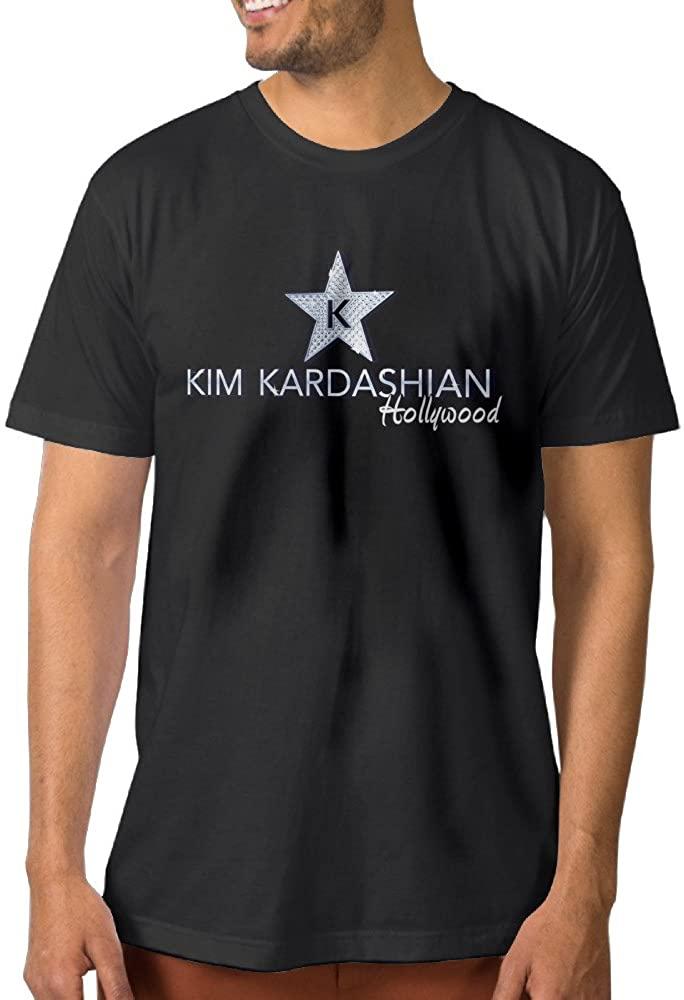 ^GinaR^ Mens Kim Kardashian Star New Design T-Shirt Black