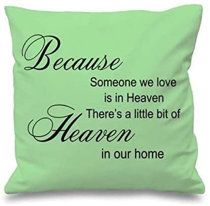 Festival-Fashion Quote Cushion Cover Cotton Throw Pillow Case Gift Because Someone We Love Mint Green
