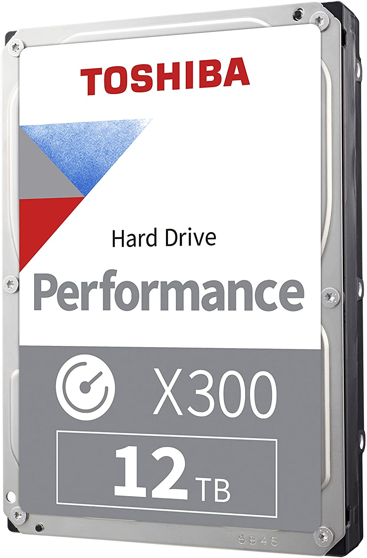 Toshiba HDWR21CXZSTA X300 12TB Performance & Gaming Internal Hard Drive 7200 RPM SATA 6GB/s256 MB Cache 3.5 Inch