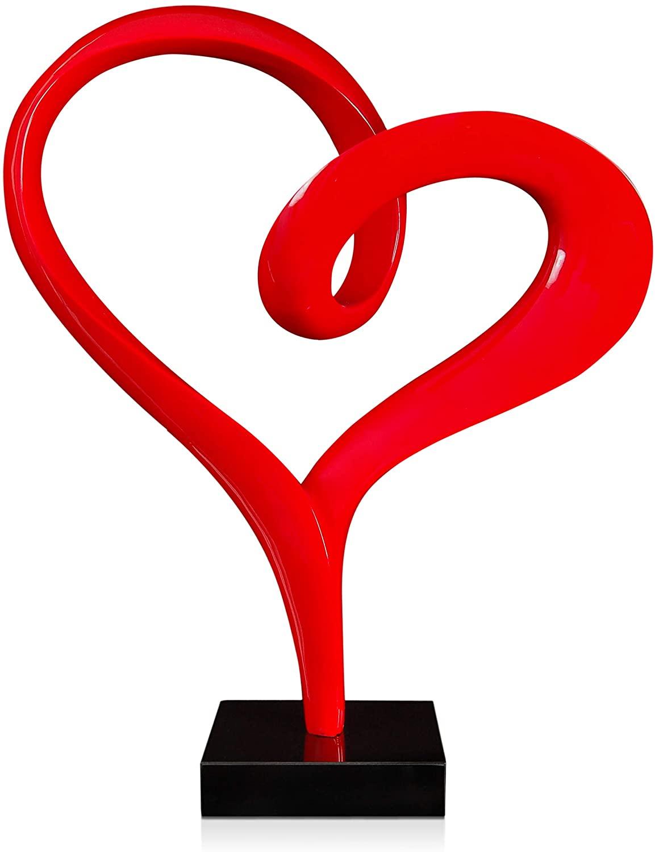 World Art Resin Sculptures Heart, 73x61x26 Cm, Size: 29 x 25 x 11 Inch