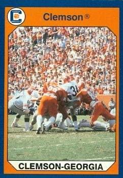 Clemson Beats Nebraska Football Card (Clemson) 1990 Collegiate Collection #99