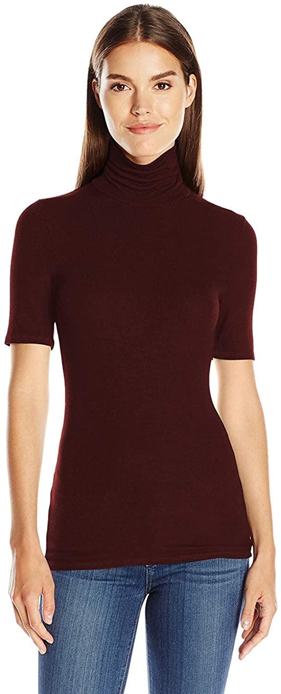 Three Dots Women's Cleo Viscose Shirt, Bordeauxx (Large)